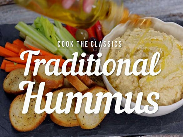 Traditional Way Of Making Hummus